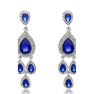 Dame Cercei Picătură Sapphire sintetic La modă Cristal Bijuterii Pentru Nuntă Petrecere Zilnic