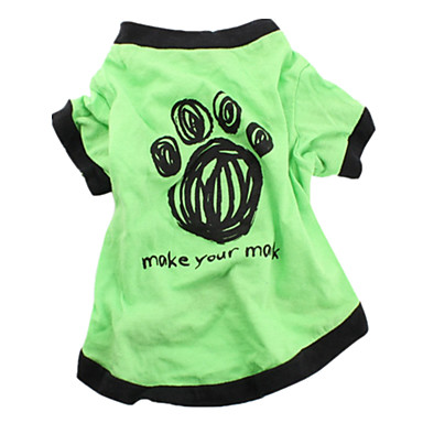 Köpek Tişört Köpek Giyimi Günlük/Sade Harf & Sayı Yeşil Mavi
