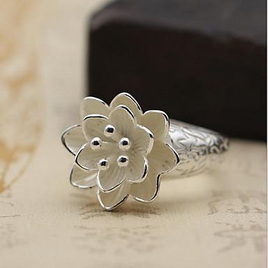 Erkek Kadın Yüzük Mücevher Kişiselleştirilmiş Ayarlanabilir Açık minimalist tarzı Som Gümüş Mücevher Uyumluluk Günlük