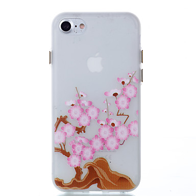 Uyumluluk Kılıflar Kapaklar Karanlıkta Parlayan Arka Kılıf Pouzdro Çiçek Yumuşak TPU için Apple iPhone 7 Plus iPhone 7 iPhone 6s Plus