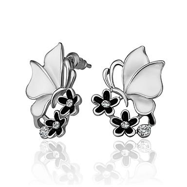 Damskie Kolczyki na sztyft Cyrkonia Modny Cyrkon Imitacja diamentu Stop Biżuteria Codzienny Casual