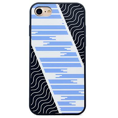 Pentru iPhone 7 iPhone 7 Plus iPhone 6 Carcase Huse Anti Șoc Model Carcasă Spate Maska Linii / Valuri Greu Silicon pentru Apple iPhone 7