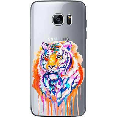 Kılıf Na Samsung Galaxy S7 edge S7 Ultra cienkie Przezroczyste Wzór Czarne etui Seksowna dziewczyna Miękkie TPU na S7 edge S7 S6 edge