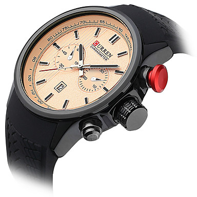Bărbați Ceas Sport Ceas Elegant  Ceas La Modă Ceas de Mână Quartz Calendar Piele Autentică Bandă Charm Casual Multicolor