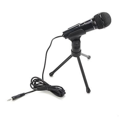 kuuma myynti äänentoistoa tallennus kondensaattorimikrofoni runkoäänivaimennin pidin leikkeen kanssa lukkonuppi 3.5mm aux jack
