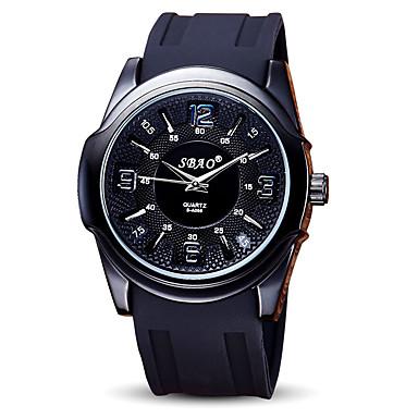 Bărbați Ceas Sport Ceas de Mână Quartz / Silicon Bandă Cool Casual Negru Alb Negru Rosu Albastru