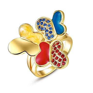 Pierścionki Cyrkonia Codzienny Casual Biżuteria Stop Cyrkon Pozłacane Pokryte różowym złotem Damskie Pierscionek 1szt,8Różowe złoto