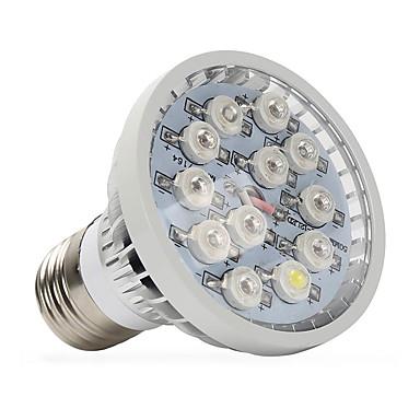 1pc 400-500 lm E14 GU10 E27 LED Büyüyen Işıklar 12 led Yüksek Güçlü LED Sıcak Beyaz Kırmızı Mavi UV (Siyah Işık) AC 85-265V