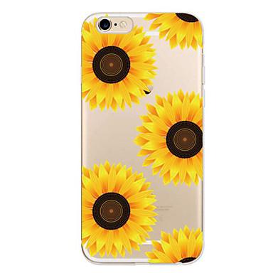 Käyttötarkoitus iPhone 7 kotelo iPhone 7 Plus kotelo iPhone 6 kotelo kotelot kuoret Ultraohut Kuvio Takakuori Etui Kukka Pehmeä TPU varten