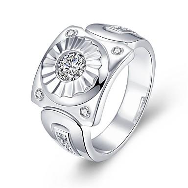 Γυναικεία Δαχτυλίδι Cubic Zirconia Ζιρκονίτης Χαλκός Επάργυρο Κοσμήματα Καθημερινά Causal