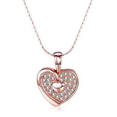 Γυναικεία Καρδιά Εξατομικευόμενο Love Μοντέρνα Πανκ Προσαρμόσιμη Λατρευτός Χιπ-Χοπ Euramerican χαριτωμένο στυλ Κρεμαστά Κολιέ Cubic