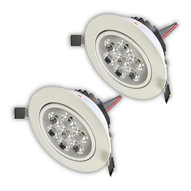 ZDM® 2pcs 7W 750-850lm 7 LED-uri Intensitate Luminoasă Reglabilă Ușor de Instalat Încastrat Lumini Recessed Alb Cald Alb Rece Alb Natural
