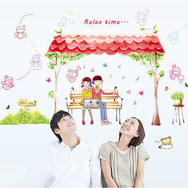 رومانسية أزياء الناس ملصقات الحائط لواصق حائط الطائرة لواصق حائط مزخرفة,ورق مادة تصميم ديكور المنزل جدار مائي