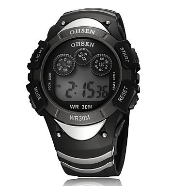 Erkek Spor Saat Elbise Saat Moda Saat Bilek Saati Dijital saat Quartz Dijital Takvim Gerçek Deri Bant İhtişam Günlük Çok-Renkli