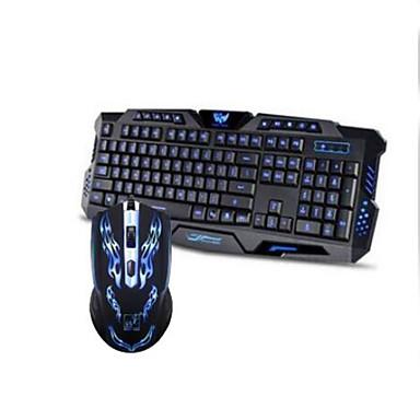 لعب الفأر USB 1600 لوحة مفاتيح الألعاب USB موضوع لون الخلفية
