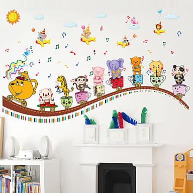 Eläimet Piirretty Muoti Wall Tarrat Lentokone-seinätarrat Koriste-seinätarrat Pituustarrat,Paperi materiaali Kodinsisustus Seinätarra