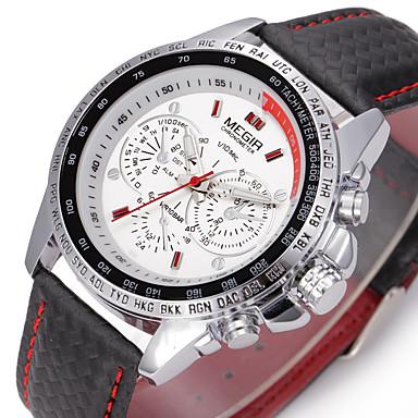 MEGIR Erkek Otomatik kendi hareketli Bilek Saati Elbise Saat Spor Saat Gündelik Saatler Gerçek Deri Bant İhtişam Lüks Günlük Moda