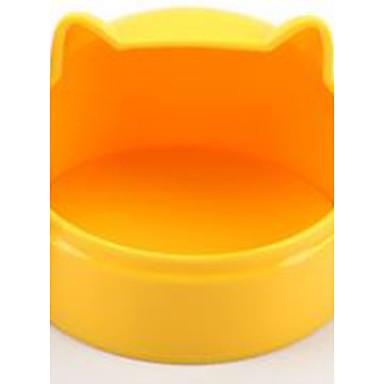 الطاسات وزجاجات بلاستيك برتقالي كوفي أزرق زهري