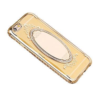 Για Καθρέφτης tok Πίσω Κάλυμμα tok Μονόχρωμη Μαλακή TPU για Apple iPhone 7 Plus iPhone 7 iPhone 6s Plus/6 Plus iPhone 6s/6