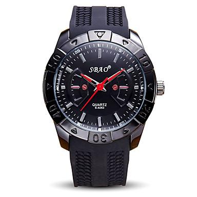 Erkek Spor Saat Bilek Saati Quartz / Silikon Bant Havalı Günlük Siyah Beyaz Siyah Kırmzı Mavi
