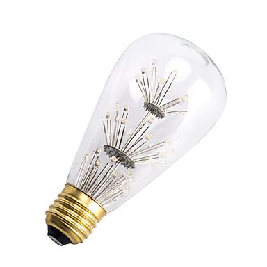 E26/E27 LED Λάμπες Πυράκτωσης ST64 47 leds SMD Διακοσμητικό Θερμό Λευκό 300lm 2200-2300K AC 220-240V