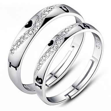 Inele Cuplu, Inel, Inel de logodna - Zirconiu, Argilă Ajustabil Pentru Nuntă / Petrecere / Zilnic