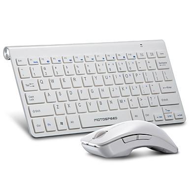 Ασύρματη Πλήρες πληκτρολόγιο ποντικιού Μίνι AA Μπαταρία πληκτρολόγιο Office