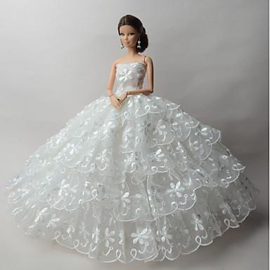 Γάμου Φορέματα Για Κούκλα Barbie Φορέματα Για Κορίτσια κούκλα παιχνιδιών