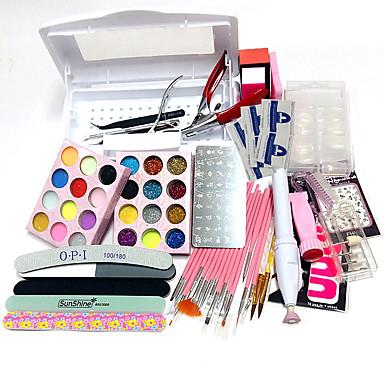 απολύμανση εργαλείο νυχιών κουτί 100τεμ άκρες των νυχιών ζωγραφική πρότυπα στυλό carve σχεδιάζει καουτσούκ πλάκα στεγανοποίησης 15 πένες