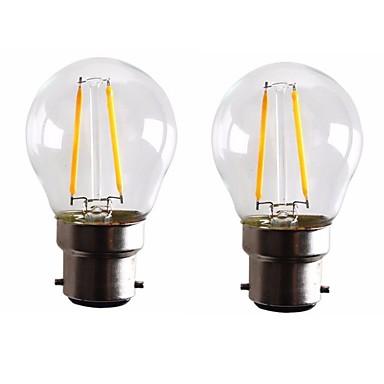 ONDENN 2pcs 2 W 160-200 lm B22 LED Λάμπες Πυράκτωσης G45 2 LED χάντρες COB Με ροοστάτη Θερμό Λευκό 220-240 V 110-130 V / 2 τμχ / RoHs