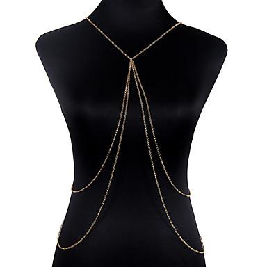 Prenses Göbek Kolyeleri / Vücut Zinciri / Belly Chain - Kadın's Altın Klasik / Bohem / Moda Vücut Mücevheri Uyumluluk Yılbaşı Hediyeleri