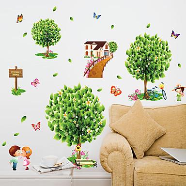 Botanic Modă Florale Perete Postituri Autocolante perete plane Autocolante de Perete Decorative,Hârtie Material Pagina de decorarede