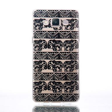 Etui Käyttötarkoitus Samsung Galaxy A5(2016) A3(2016) Läpinäkyvä Koristeltu Kuvio Takakuori Elefantti Pehmeä TPU varten A5(2016) A3(2016)