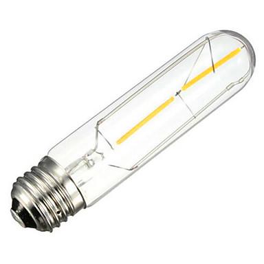 1pc 200 lm E26/E27 LED Filaman Ampuller Tüp 2 led COB Dekorotif Sıcak Beyaz AC 220-240V