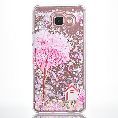 Kılıf Na Samsung Galaxy Z płynem Wzór Czarne etui Drzewo Twarde PC na A7(2016) A5(2016)