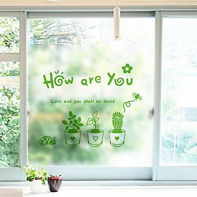 Kwiaty קלאסי Naklejka okienna, PVC/Vinyl Materiał Dekoracja okna Jadalnia Sypialnia Salon