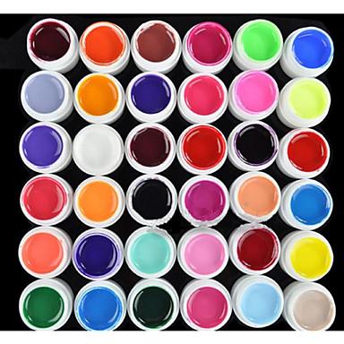 Polonya UV Jel Tırnak 0.008 36 UV Renkli Jel UV Oluşturucu Jel Klasik Uzun Ömürlü kapalı emmek Günlük UV Renkli Jel UV Oluşturucu Jel