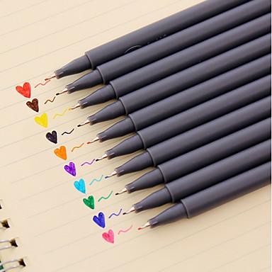 jel Kalem Kalem Sulu Boya Kalemleri Kalem,Plastik Varil Kırmızı Siyah Mavi Sarı Mor Turuncu Yeşil mürekkep Renkleri For Okul malzemeleri