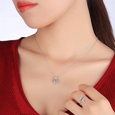 Breloczki Crown Shape Srebro standardowe Unikalny Podstawowy Modny Biżuteria Na Codzienny Casual