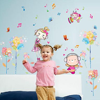 Autocolante de Perete Decorative - Persoane de perete pentru autocolante Oameni / Modă / Florale Sufragerie / Dormitor