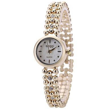 pentru Doamne Ceas La Modă Ceas de Mână Quartz / Aliaj Bandă Cool Casual Elegant Auriu Alb Negru Maro Roz
