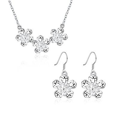 Κοσμήματα Καθημερινά Causal Χαλκός Επάργυρο 1 Κολιέ 1 Ζευγάρι σκουλαρίκια
