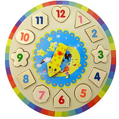 Παζλ Ξύλινο παιχνίδι ρολογιών Εκπαιδευτικό παιχνίδι Παιχνίδια Κυκλικό Ρολόι Εκπαίδευση Ξύλο Αγορίστικα Κοριτσίστικα Κομμάτια