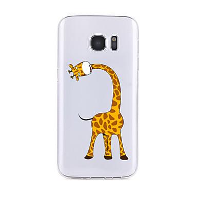 غطاء من أجل Samsung Galaxy S7 edge S7 شفاف نموذج غطاء خلفي كارتون ناعم TPU إلى S7 edge S7 S6 edge plus S6 edge S6 S6 Active S5 S4