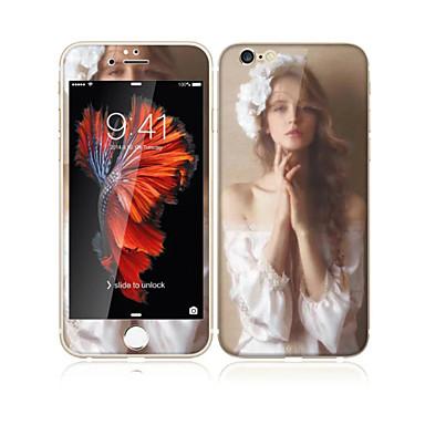 iPhone 6s / 6 4.7 karkaistua lasia pehmeällä reunaan peittää koko näytön edessä näytön suojakalvon ja selkäsuoja seksikäs tyttö malli
