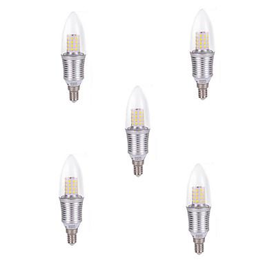 6W E14 LED Mum Işıklar C35 45 led SMD 2835 Dekorotif Serin Beyaz 80-120lm 6000-6500K AC 220-240V