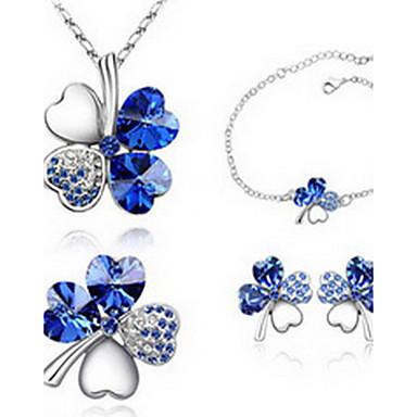 Dame Seturi de bijuterii Cristal Iubire Cristal Austriac Aliaj 1 Colier 1 Pereche de Cercei 1 Brățară Pentru Petrecere Cadouri de nunta