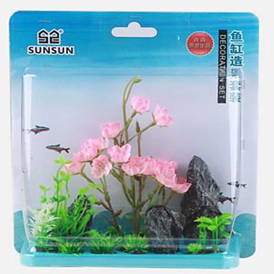 Διακόσμηση Ενυδρείου Λουλούδι Ξύλο Μη τοξικό και χωρίς γεύση Πλαστική ύλη