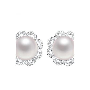 Damskie Kolczyki na sztyft Pearl imitacja Srebro standardowe Biżuteria Na Codzienny Casual