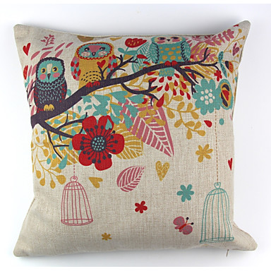 1 szt Bielizna Pokrywa Pillow Poszewka na poduszkę,Kwiatowy Textured Zwierząt Drukuj Martwa natura Wzory graficzne Retro